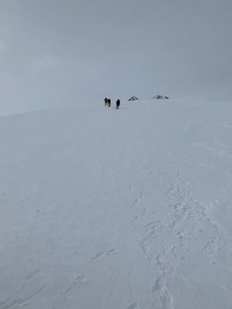 Heading down to top of fixed ropes