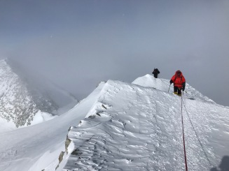Last few feet to the summit
